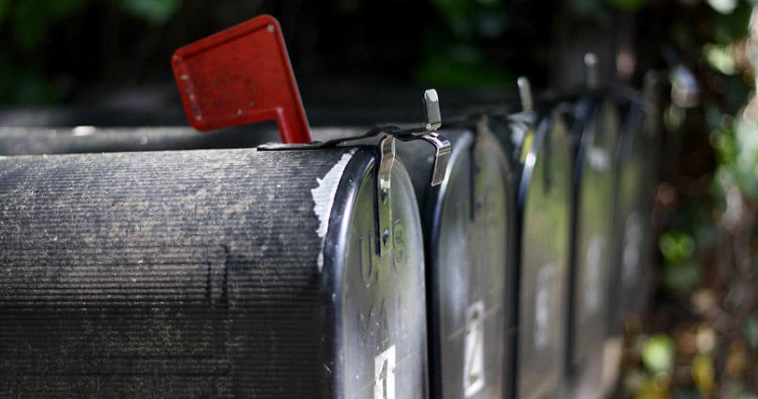 photo of rural mailboxes