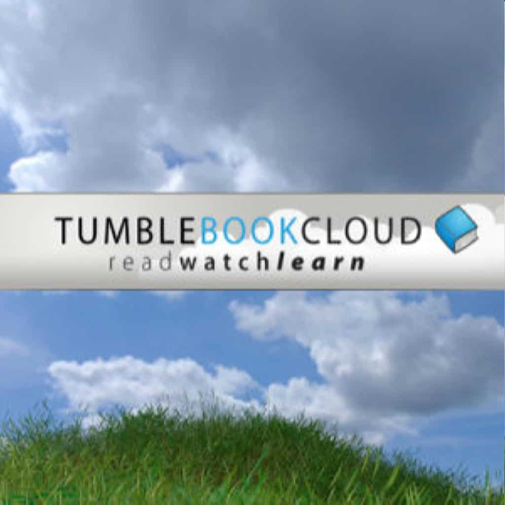 tumble book cloud icon with cloudy sky photo