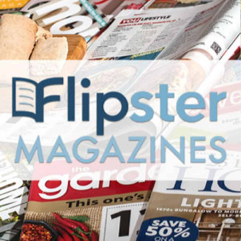 photo of magazines with flipster logo