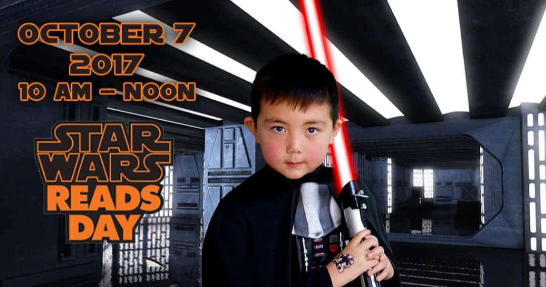 green screen photo of a little boy on a Star Wars set