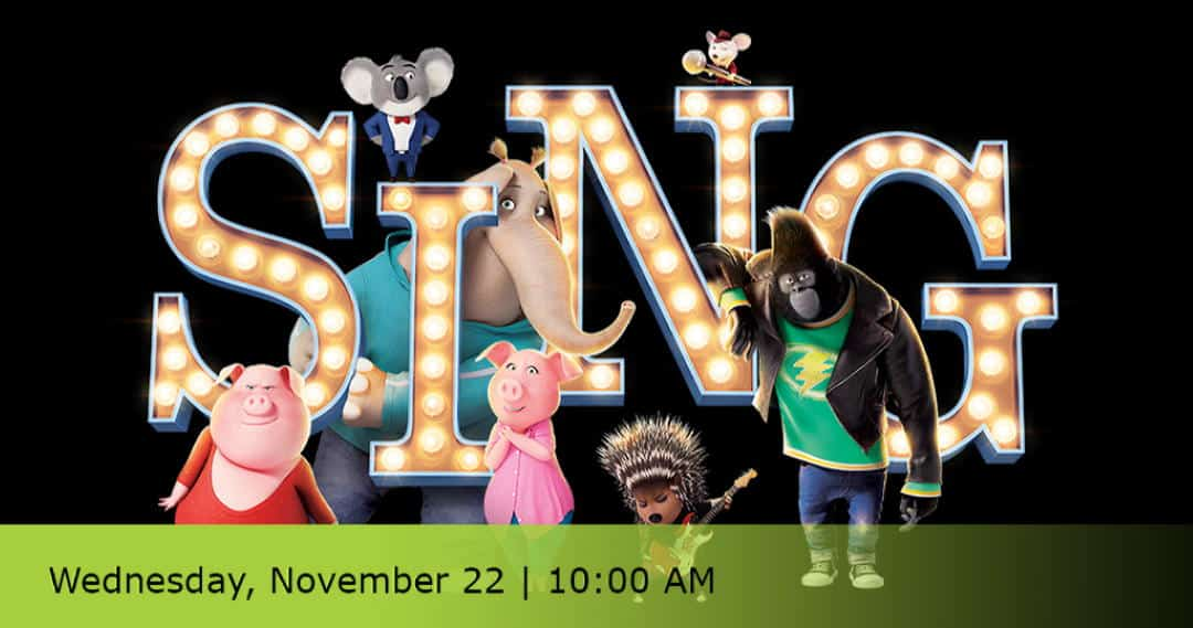 logo from the kids movie Sing