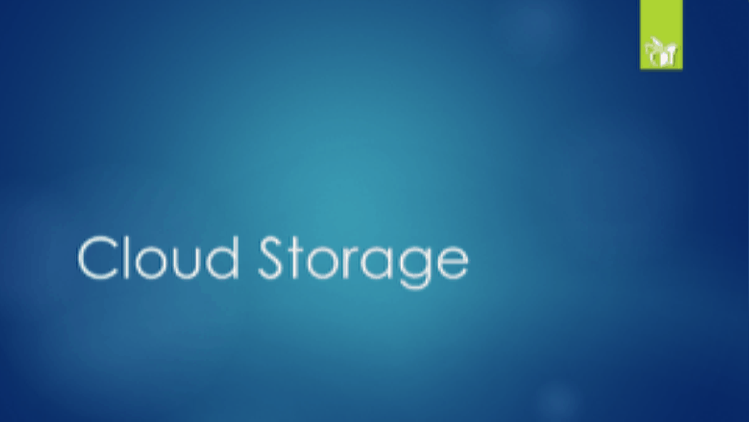Cloud Storage Presentation