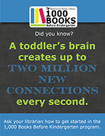 A toddler's brain creates up to two million new connections every second.